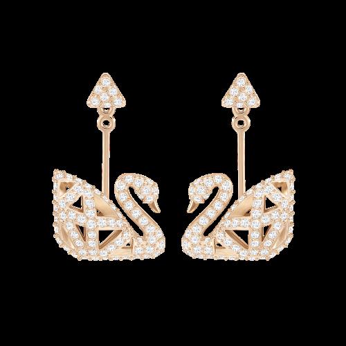 Facet Swan Earrings