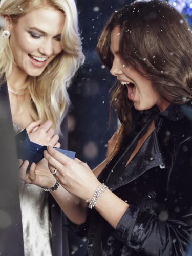 KARLIE KLOSS & CANDICE HUFFINE BTS SWAROVSKI Christmas 2018 CAMPAIGN