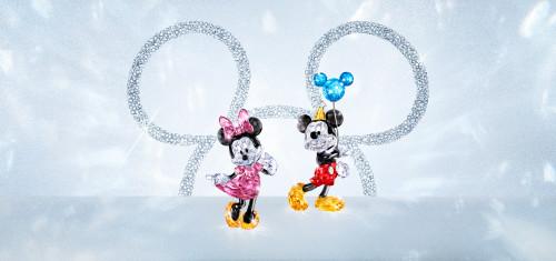 Mickey & Minnie Mouse Visual SWAROVSKI 90TH ANNIVERSARY